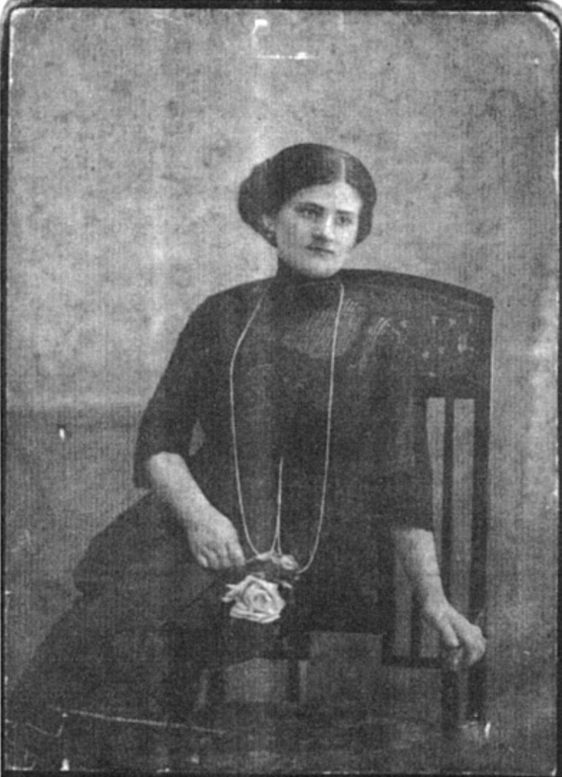 Raquel Liberman nel 1919, quando ancora viveva in Polonia. (Credit: Nora Glickman, The Jewish White Slave Trade and the Unknown Story of Raquel Liberman)